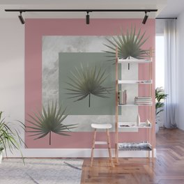 THREE PALM LEAVES & MARBLE Wall Mural