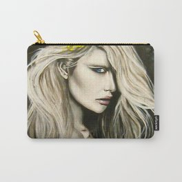graffiti blonde girl Blue Carry-All Pouch