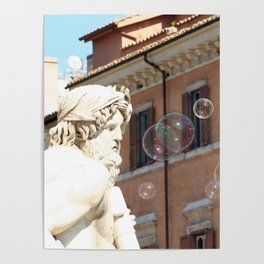 Bernini's Four Rivers Fountain Poster