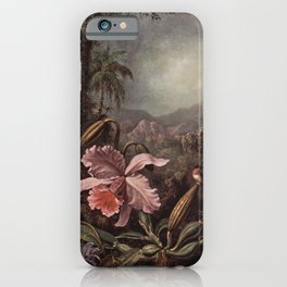 Orchid And Hummingbird 1880 By Martin Johnson Heade | Reproduction iPhone Case