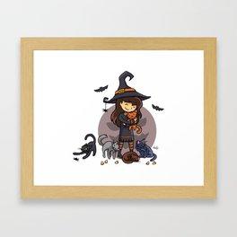 Caturween Framed Art Print