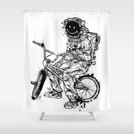 Void in Space (Blk) Shower Curtain