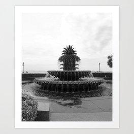 Pineapple Fountain Charleston River Park Art Print