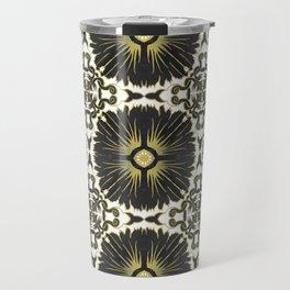Azulejos - Portuguese Tiles Black and Gold Travel Mug