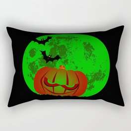 Full Halloween Moon Rectangular Pillow