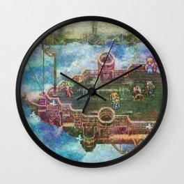 Final Fantasy VI Terra Branford Airship Impressionist Painting Wall Clock