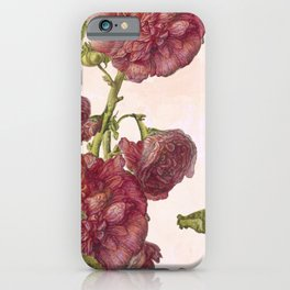 Hollyhock Hero iPhone Case