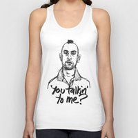 taxi driver Tank Tops featuring Taxi Driver by Dave Flanagan