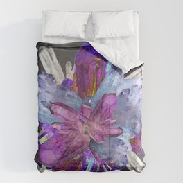 CRYSTALLINE RADIATING CLUSTER OF AMETHYST & QUARTZ Comforters