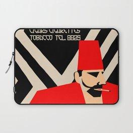 Retro geometric style German Turkish tobacco ad Laptop Sleeve