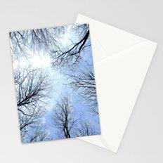 Black Trees Blue Sky Stationery Cards