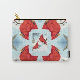 Cardinal Pattern Carry-All Pouch