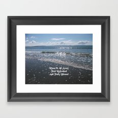 Nature Photo Rinse Quote by Kat Worth Framed Art Print
