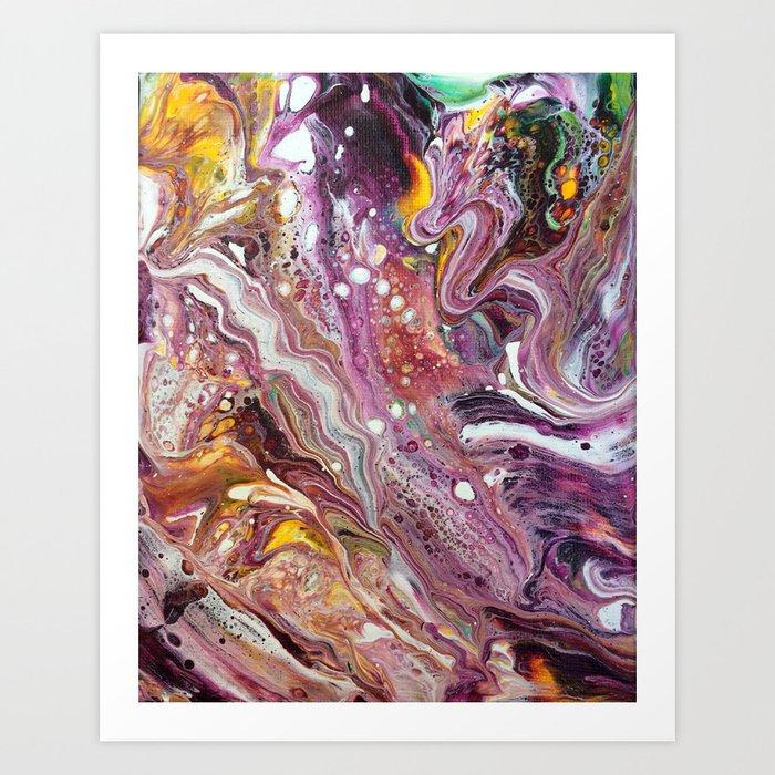 Original Acrylic Painting, Poured Painting, Abstract, Acrylic Flow, Art  Resin, Art Epoxy, Fluid pain Art Print by olga367art