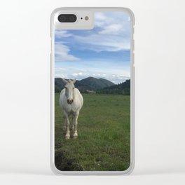 Happy White Horses - Sun Valley, Idaho Clear iPhone Case