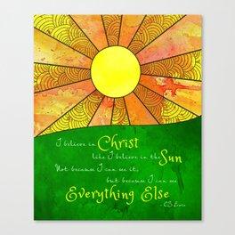 Christ like the Sun Canvas Print