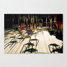 abandoned swings Canvas Print