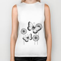 butterflies Biker Tanks featuring Butterflies by LouJah