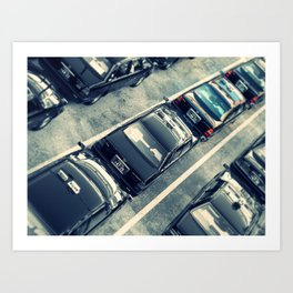 Japanese Taxis Art Print