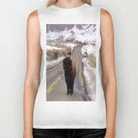 montana Biker Tanks featuring Montana Traffic Jam by Kim Ramage