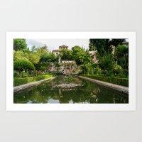 Calat Alhambra Gardens Art Print