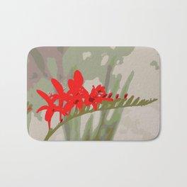 Better Off Red Big and Bold Art Print Pop Art Flower Bath Mat