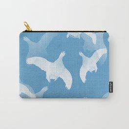 White Birds Against The Blue Sky #decor #society6 #homedecor Carry-All Pouch