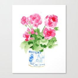 Potted Geranium no. 2 Canvas Print
