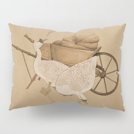 The Geese and the Pumpkin Pillow Sham