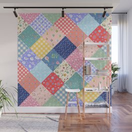 Happy patchwork quilt Wall Mural