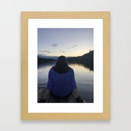 The sun sets on childhood Framed Art Print