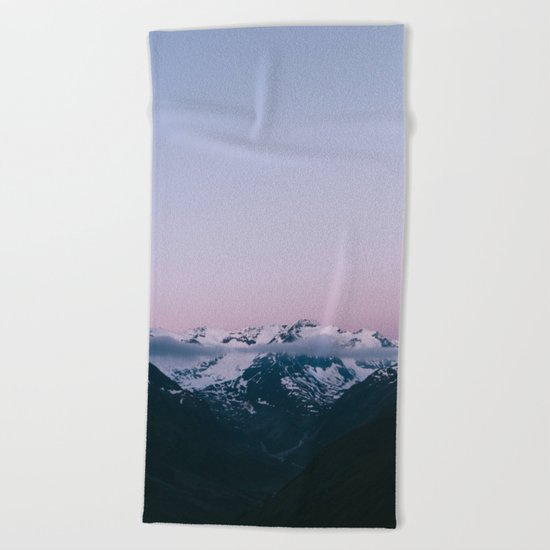 Sunset Mountains (pastel) Beach Towel