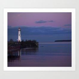 The Lighthouse in St. Ignace Art Print