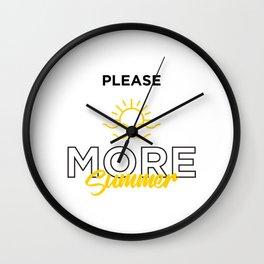 More Summer Wall Clock