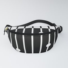 Combined black and white pattern . Fanny Pack