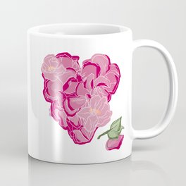 Heart of flowers Coffee Mug