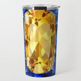 SEPTEMBER CHAMPAGNE TOPAZ GEM BIRTHSTONES Travel Mug