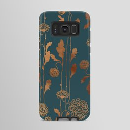 Art Deco Copper Flowers  Android Case