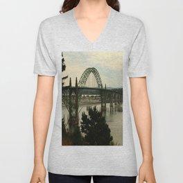 Yaquina Bay Bridge Unisex V-Neck