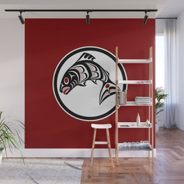 Northwest Pacific coast Haida art Salmon Wall Mural