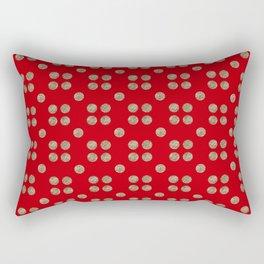 maraschino and copper dots Rectangular Pillow