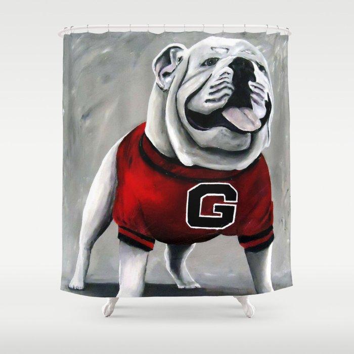 Genial UGA Georgia Bulldogs Mascot Shower Curtain