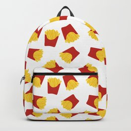 FRENCH FRIES POMMES FAST FOOD PATTERN Backpack