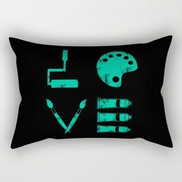 Love Art Gift Artist Tools Designer Painter Art Teacher Rectangular Pillow