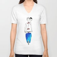 roman V-neck T-shirts featuring Roman Holiday by Isabel Sobregrau