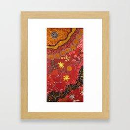 Aboriginal summer Framed Art Print