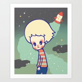 displaced person Art Print