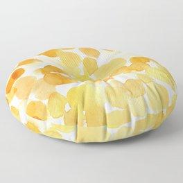 Yellow is my happy color Floor Pillow