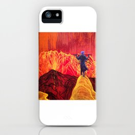 Accept Nature and Admire the Electric Volcano Blast. iPhone Case