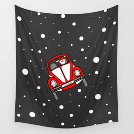 Santas Sleigh Is In The Shop Wall Tapestry